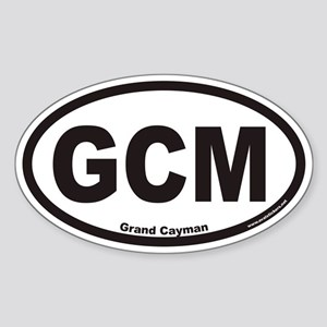 Grand Cayman GCM Euro Oval Sticker