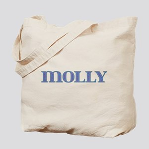 Molly Blue Glass Tote Bag