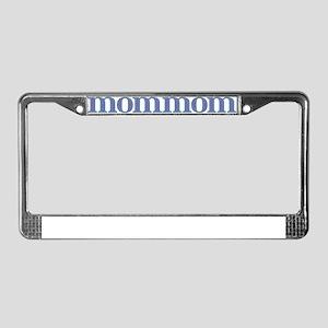 MomMom Blue Glass License Plate Frame