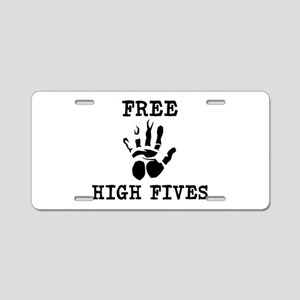 Free High Fives Aluminum License Plate