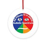 Autism Symbol Round Ornament