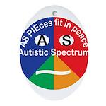 Autism symbol Oval Ornament