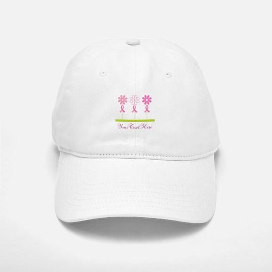 Pink Ribbon Personalized Breast Cancer Baseball Baseball Cap