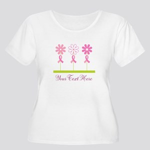 Pink Ribbon Personalized Breast Cancer Women's Plu