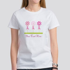 Pink Ribbon Personalized Breast Cancer Women's T-S