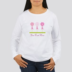 Pink Ribbon Personalized Breast Cancer Women's Lon