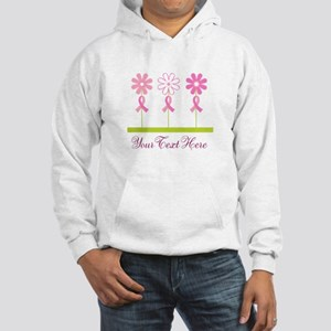 Pink Ribbon Personalized Breast Cancer Hooded Swea
