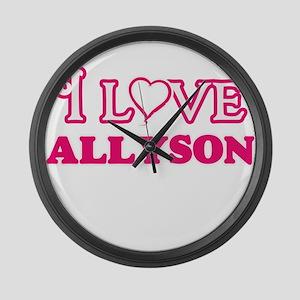 I Love Allyson Large Wall Clock