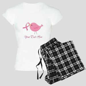 Personalized Pink Cancer Bird Women's Light Pajama