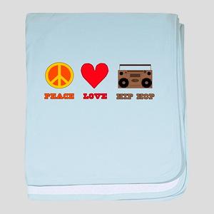 Peace Love Hip Hop baby blanket