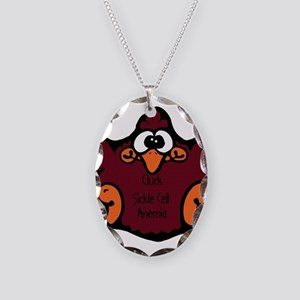 Sickle Cell Anemia Necklace Oval Charm
