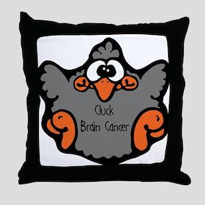 Brain Cancer Throw Pillow