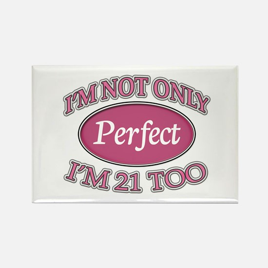 Cute Turning 21 Rectangle Magnet