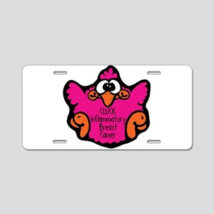 Inflammatory Breast Cancer Aluminum License Plate