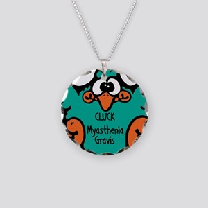 Myasthenia Gravis Necklace Circle Charm