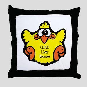 Liver Disease Throw Pillow