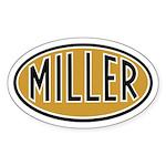 Miller Logo Oval Sticker