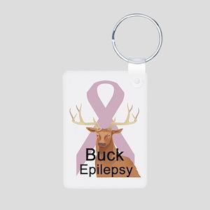 Epilepsy Aluminum Photo Keychain