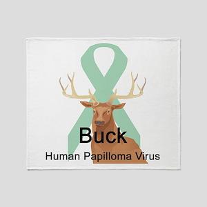 Human Papilloma Virus Throw Blanket