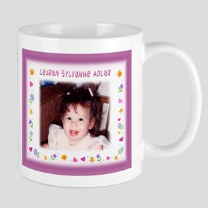 Girl's Hearts/Flowers Personalized Mug - Custom