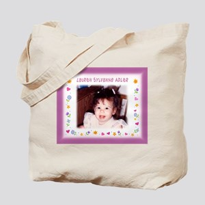 Girl's Personalized Hearts Flowers Tote - Custom