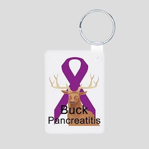 Pancreatitis Aluminum Photo Keychain