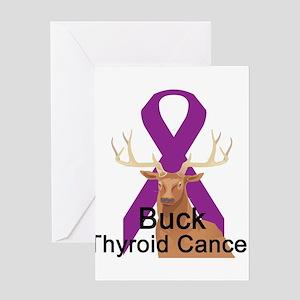 Thyroid Cancer Greeting Card