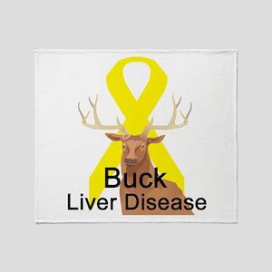 Liver disease Throw Blanket