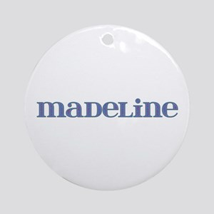 Madeline Blue Glass Round Ornament