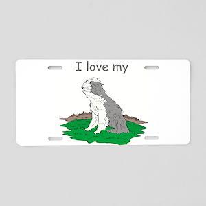 I love my Bearded Aluminum License Plate