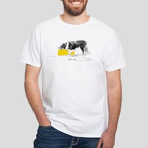 """White T-Shirt """"Border Collie"""""""