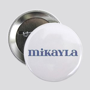 Mikayla Blue Glass Button