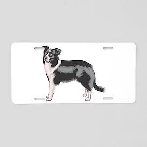 Boarder Collie Aluminum License Plate