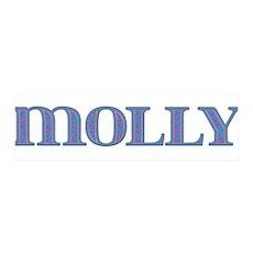 Molly Blue Glass 42x14 Wall Peel