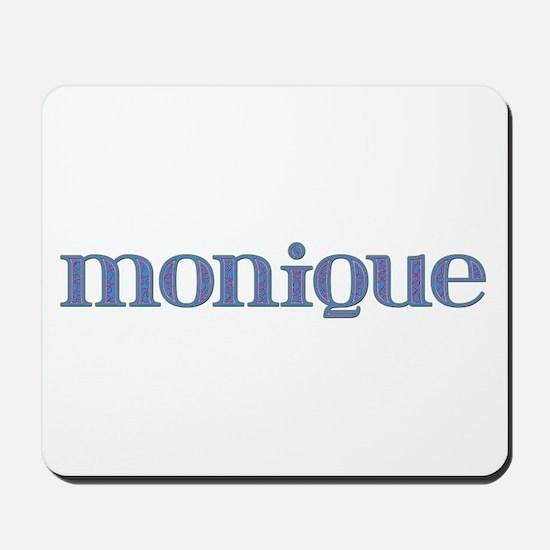 Monique Blue Glass Mousepad