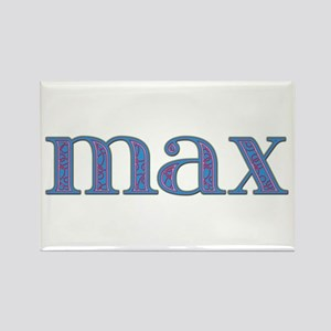 Max Blue Glass Rectangle Magnet