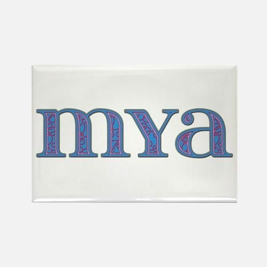 Mya Blue Glass Rectangle Magnet
