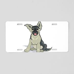 German Shepard pup Aluminum License Plate