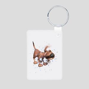Bloodhound Aluminum Photo Keychain