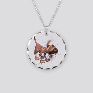 Bloodhound Necklace Circle Charm