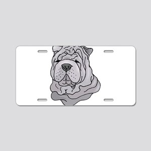 Chinese Shar-Pei Aluminum License Plate