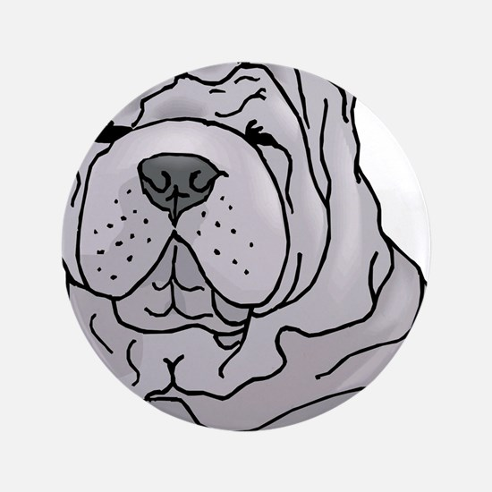 "Chinese Shar-Pei 3.5"" Button"
