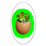 Egg Timer Oval Sticker