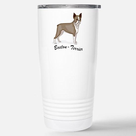 Boston Terrier Stainless Steel Travel Mug