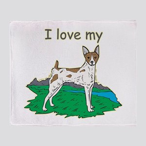 I love my Rat Terrier Throw Blanket