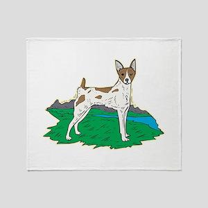 Rat Terrier Throw Blanket