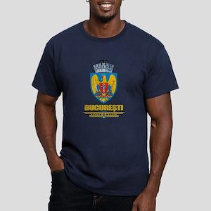 Bucuresti (Bucharest) Men's Fitted T-Shirt (dark)