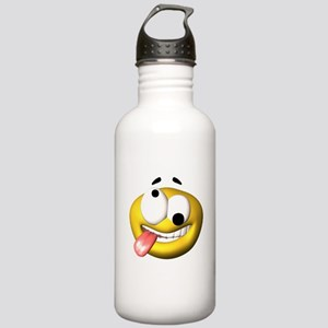 Silly Tongue Out Face Stainless Water Bottle 1.0L
