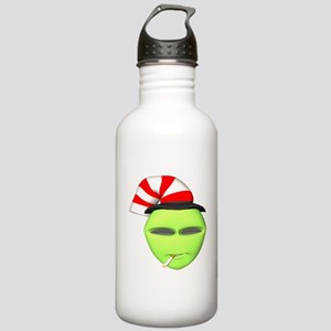 Smoking Alien with Hat Stainless Water Bottle 1.0L