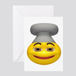Chef Hat Face Greeting Card